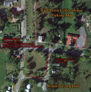 Fullmoon Coffeehouse Parking Map